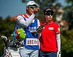 Hyo Joo Kim of Korea in action during the Hyundai China Ladies Open 2014 at World Cup Course in Mission Hills Shenzhen on December 14<br />  2014, in Shenzhen, China. Photo by Xaume Olleros / Power Sport Images