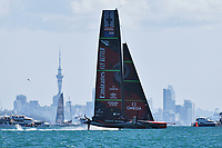 15th March 2021; Waitemata Harbour, Auckland, New Zealand;  Emirates Team New Zealand ahead of racing on Day 5 of the America's Cup presented by Prada. Auckland, New Zealand