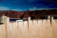 The Hoover Dam (aka Boulder Dam). Arizona (right), Nevada (left).