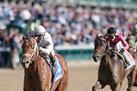 November 3, 2018: Audible #3, ridden by Javier Castellano, wins the 1st running of the Qatar Cherokee Run Stakes on Breeders' Cup World Championship Saturday at Churchill Downs on November 3, 2018 in Louisville, Kentucky. Kaz Ishida/Eclipse Sportswire/CSM