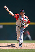 Starting pitcher Tommy Hanson #32 of the Gwinnett Braves in action at Knights Castle March 21, 2009 in Fort Mill, South Carolina. (Photo by Brian Westerholt / Four Seam Images)