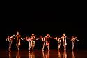 Richard Alston Dance Company in dress rehearsal of VOICES AND LIGHT FOOTSTEPS ahead of the company's final performances on 7th & 8th March 2020. the dancers are: Elly Braund, Niall Egan, Alejandra Gissler, Joshua Harriette, Jennifer Hayes, Monique Jonas, Nahum McLean, Nicholas Shikkis, Jason Tucker, Ellen Yilma.