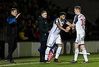 Bolton Wanderers' Jacob Mellis (centre) replaces Ethan Hamilton  <br /> <br /> Photographer Andrew Kearns/CameraSport<br /> <br /> The Premier League - Leicester City v Aston Villa - Monday 9th March 2020 - King Power Stadium - Leicester<br /> <br /> World Copyright © 2020 CameraSport. All rights reserved. 43 Linden Ave. Countesthorpe. Leicester. England. LE8 5PG - Tel: +44 (0) 116 277 4147 - admin@camerasport.com - www.camerasport.com