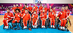 Lima 2019 - Wheelchair Basketball // Basketball en fauteuil roulant.<br /> Canada takes on the USA in the gold medal game in men's wheelchair basketball // Le Canada affronte les États-Unis dans le match pour la médaille d'or en basketball en fauteuil roulant masculin. 31/08/2019.