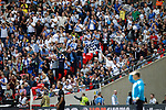 Tranmere Rovers 1 Forest Green Rovers 3, 14/05/2017. Wembley Stadium, Conference play off Final. Mickey Mellon Manager of Tranmere Rovers and Tranmere fans follow the game during the Vanarama Conference play off Final  between Tranmere Rovers v Forest Green Rovers at the Wembley. Photo by Paul Thompson.