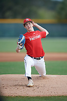 Parker Holland (66), from Marion, Illinois, while playing for the Cardinals during the Baseball Factory Pirate City Christmas Camp & Tournament on December 30, 2017 at Pirate City in Bradenton, Florida.  (Mike Janes/Four Seam Images)