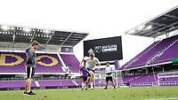 Orlando, Florida - Friday January 12, 2018: Wyatt Omsberg during the agility test. The 2018 adidas MLS Player Combine Skills Testing was held Orlando City Stadium.