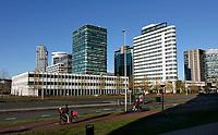 Nederland  Amsterdam -  2020.  Amsterdam Zuid-Oost . Kantoren bij Station Bijlmer Arena.   Foto : ANP/ HH / Berlinda van Dam