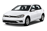 2019 Volkswagen Golf S 5 Door Hatchback angular front stock photos of front three quarter view