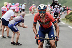 Vincenzo Nibali (ITA) Bahrain-Merida attacks on the Col du Soulor during Stage 14 of the 2019 Tour de France running 117.5km from Tarbes to Tourmalet Bareges, France. 20th July 2019.<br /> Picture: ASO/Pauline Ballet | Cyclefile<br /> All photos usage must carry mandatory copyright credit (© Cyclefile | ASO/Pauline Ballet)