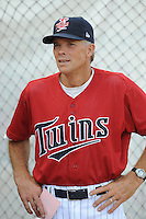 Ray Smith Manager Elizabethton Twins  (Minnesota Twins) waits for the game to begin at Joe O'Brien Stadium August 8, 2009 in Elizabethton, TN. (Photo by Tony Farlow/FOur Seam Images)