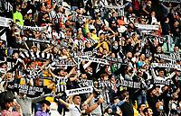 Calcio, Serie A: Juventus vs Sampdoria Allianz stadium, Turin, September 26, 2021.<br /> Juventus supporters before the Italian Serie A football match between Juventus and Sampdoria  at Allianz stadium, Turin, on September 26, 2021.<br /> UPDATE IMAGES PRESS/Isabella  Bonotto