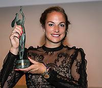 Paris, France, 5 June, 2017, Tennis, French Open, Roland Garros,  ITF Champions Dinner, Wheelchair World Champion 2016 Jiske Griffioen (NED)<br /> Photo: Henk Koster/tennisimages.com