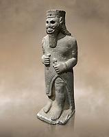 Hittite baslat sculptute of a male, late Hittite Period - 900-700 BC. Adana Archaeology Museum, Turkey.