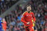 UEFA EURO 2016 Qualifier match between Wales and Andorra at Cardiff City Stadium in Cardiff : <br /> Aaron Ramsey of Wales pulls a face in the second half.