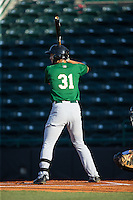 Wuilmer Becerra (31) of the Savannah Sand Gnats at bat against the Hickory Crawdads at L.P. Frans Stadium on June 15, 2015 in Hickory, North Carolina.  The Crawdads defeated the Sand Gnats 4-1.  (Brian Westerholt/Four Seam Images)