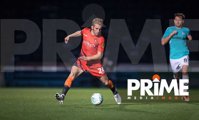 Jason McCarthy of Wycombe Wanderers during the Carabao Cup 2nd round match between Wycombe Wanderers and Forest Green Rovers at Adams Park, High Wycombe, England on 28 August 2018. Photo by Andy Rowland.