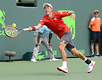 March 26 2017: Kei Nishikori (JPN) battles against Fernando Verdasco (ESP) in 3 sets at the Miami Open being played at Crandon Park Tennis Center in Miami, Key Biscayne, Florida. ©Karla Kinne/Tennisclix/Cal Sports Media