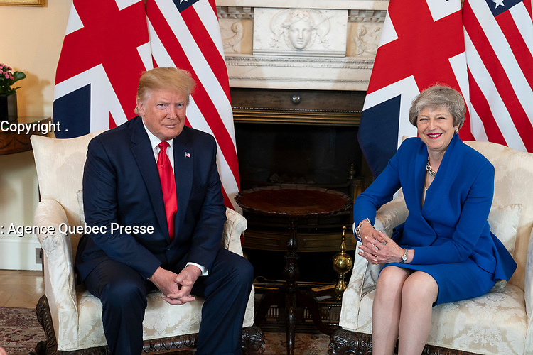 President Donald J. Trump meets with British Prime Minister Theresa May Tuesday, June 4, 2019, at No. 10 Downing Street in London. (Official White House Photo by Shealah Craighead)