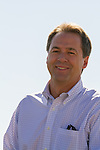 Steve Bullock (D. Attorney General) campaigns for Governor of MT at the Crow Fair Parade.