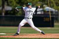 February 26, 2010:  Pitcher Trey Popp of the Michigan State Spartans during the Big East/Big 10 Challenge at Raymond Naimoli Complex in St. Petersburg, FL.  Photo By Mike Janes/Four Seam Images