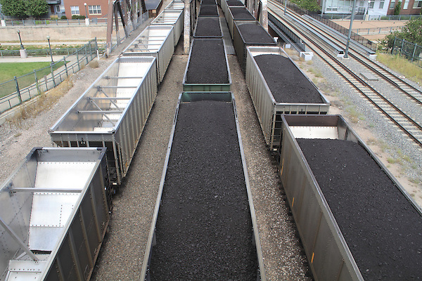 Getty Images exclusive, Railroad cars empty and filled with coal near Confluence Park in downtown Denver, Colorado. .  John leads private photo tours in Boulder and throughout Colorado. Year-round Colorado photo tours.