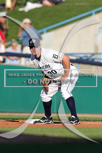 West Michigan Whitecaps first baseman Tony Plagman (30) during a game vs. the Fort Wayne TinCaps at Fifth Third Field in Comstock Park, Michigan August 18, 2010.   Fort Wayne defeated West Michigan 5-1.  Photo By Mike Janes/Four Seam Images