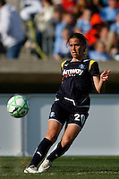 Camille Abily (20) of the Los Angeles Sol. The Los Angeles Sol defeated Sky Blue FC 2-0 during a Women's Professional Soccer match at TD Bank Ballpark in Bridgewater, NJ, on April 5, 2009. Photo by Howard C. Smith/isiphotos.com