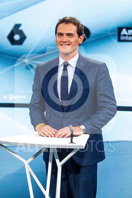 Leader of Ciudadanos Albert Rivera during the electoral debate organized by Atresmedia television network on April 22, 2019 in Madrid, Spain.(ALTERPHOTOS/Alconada).