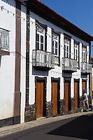 Häuser in Topo auf der Insel Sao Jorge, Azoren, Portugal