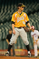 Tennessee Volunteers starting pitcher Drew Steckenrider #20 looks to his catcher for the sign against the Houston Cougars at Minute Maid Park on March 2, 2012 in Houston, Texas.  The Cougars defeated the Volunteers 7-4.  (Brian Westerholt/Four Seam Images)
