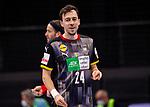 Patrick Groetzki (Deutschland #24) ; EHF EURO-Qualifikation / EM-Qualifikation / Handball-Laenderspiel: Deutschland - Estland am 02.05.2021 in Stuttgart (PORSCHE Arena), Baden-Wuerttemberg, Deutschland.<br /> <br /> Foto © PIX-Sportfotos *** Foto ist honorarpflichtig! *** Auf Anfrage in hoeherer Qualitaet/Aufloesung. Belegexemplar erbeten. Veroeffentlichung ausschliesslich fuer journalistisch-publizistische Zwecke. For editorial use only.