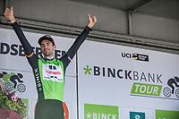 General Classification (GC) winner Tom Dumoulin (NED/Sunweb) on the podium<br /> <br /> Binckbank Tour 2017 (UCI World Tour)<br /> Stage 7: Essen (BE) > Geraardsbergen (BE) 191km