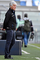 Gian Piero Gasperini coach of Atalanta BC looks on during the Serie A football match between US Sassuolo and Atalanta BC at Citta del Tricolore stadium in Reggio Emilia (Italy), May 2nd 2021. Photo Andrea Staccioli / Insidefoto