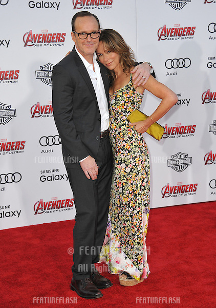 """Jennifer Grey & husband Clark Gregg at the world premiere of """"Avengers: Age of Ultron"""" at the Dolby Theatre, Hollywood.<br /> April 13, 2015  Los Angeles, CA<br /> Picture: Paul Smith / Featureflash"""