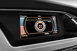 Stereo audio system close up detail view of a 2011 Audi A4 Sedan