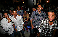 "Feliciano Lopez,  Nikola Loncar, Novak Djokovic, Players Party, Novak restaurant, ATP 250 series tennis tournament ""Serbia Open"" in Belgrade, Serbia, Tuesday, April 26. 2011. (photo: Pedja Milosavljevic / SIPA PRESS)"