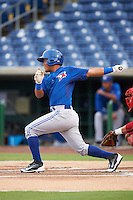GCL Blue Jays first baseman Yorman Rodriguez (77) at bat during a game against the GCL Phillies on August 16, 2016 at Bright House Field in Clearwater, Florida.  GCL Blue Jays defeated GCL Phillies 2-1.  (Mike Janes/Four Seam Images)