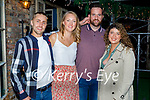 Enjoying the evening in Benners on Saturday, l to r: Sean Goggin, Daithi Dineen from Tralee, Catherine Goggin and Eleanor Halliwell.