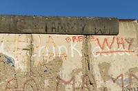 GERMANY, capital city Berlin, the wall, the former border between East and West Germany built 1961 by the East German communist regime/ Die Mauer, Grenze zwischen Ost und West-Berlin, von der DDR 1961 als antiimperialistischer Schutzwall gebaut