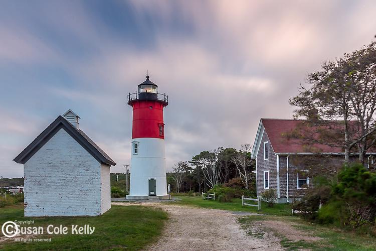 Nauset Light, Cape Cod National Seashore, Eastham, Massachusetts, USA