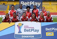 BOGOTA - COLOMBIA, 22-07-2021: Independiente Santa Fe vs La Equidad durante partido de la Fase de Grupos de la fecha 4 por la Liga Femenina BetPlay DIMAYOR 2021 jugado en el estadio Nemesio Camacho El Campin en la ciudad de Bogota. / Independiente Santa Fe vs La Equidad during a match of the Group Phase the 4th date for the Women's League BetPlay DIMAYOR 2021 played at the Nemesio Camacho El Campin stadium in Bogota city. / Photo: VizzorImage / Samuel Norato / Cont.