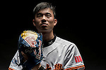 Red Bull athlete and baseball pitcher Tiger Huang pose during a photo session on May 5, 2014 in Taipei, Taiwan. Photo by Victor Fraile / Power Sport Images