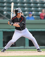 Shortstop Kyle Eveland (6) of the Kannapolis Intimidators, Class A affiliate of the Chicago White Sox, in a game against the Greenville Drive on May 27, 2011, at Fluor Field at the West End in Greenville, S.C. Photo by Tom Priddy / Four Seam Images