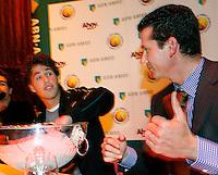 17-2-07,Netherlands, Roterdam, Tennis, ABNAMROWTT, Draw,Robin Haase draws with Tournament director Richard Krajicek
