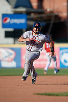 Richmond Flying Squirrels Joey Bart (33) running the bases during an Eastern League game against the Erie SeaWolves on August 28, 2019 at UPMC Park in Erie, Pennsylvania.  Richmond defeated Erie 6-4 in the first game of a doubleheader.  (Mike Janes/Four Seam Images)