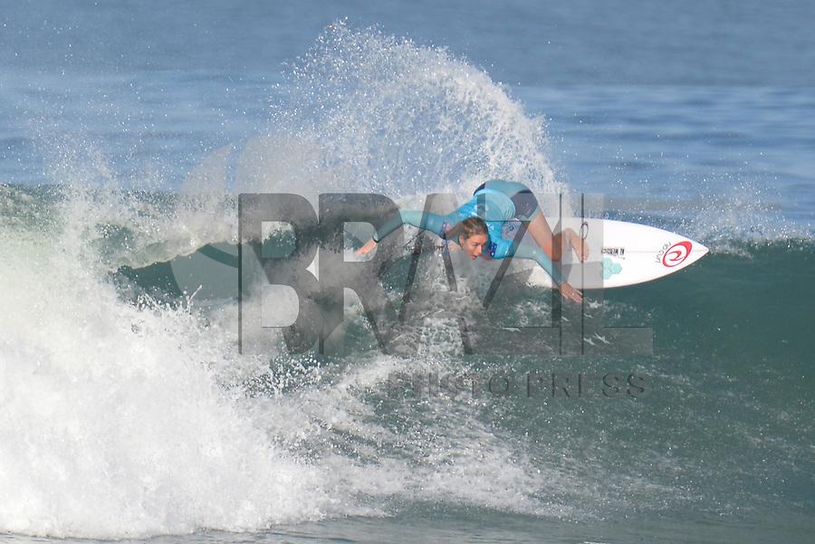 SAQUAREMA, RJ, 16.05.2018 - WSL-RJ - Nikki Van Dijk, no Oi Rio Pro etapa da WSL na Praia de Itaúna, Saquarema, Rio de Janeiro nesta quarta-feira, 16. (Foto: Clever Felix/Brazil Photo Press)