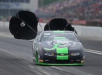 May 1, 2016; Baytown, TX, USA; NHRA pro stock driver Alex Laughlin during the Spring Nationals at Royal Purple Raceway. Mandatory Credit: Mark J. Rebilas-USA TODAY Sports