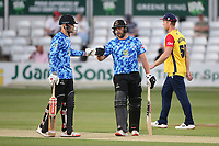 Phil Salt (L) and Luke Wright in batting action for Sussex during Essex Eagles vs Sussex Sharks, Vitality Blast T20 Cricket at The Cloudfm County Ground on 15th June 2021