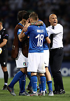 Football:  Uefa European under 21 Championship 2019, Italy - Spain Renato Dall'Ara stadium Bologna Italy on June16, 2019.<br /> Italy's players and coach Luigi Di Biagio (r) celebrate after winning 3-1 the  Uefa European under 21 Championship 2019 football match between Italy and Spain at Renato Dall'Ara stadium in Bologna, Italy on June16, 2019.<br /> UPDATE IMAGES PRESS/Isabella Bonotto